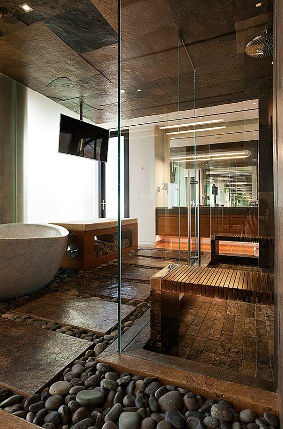ambiance zen dans la salle de bain