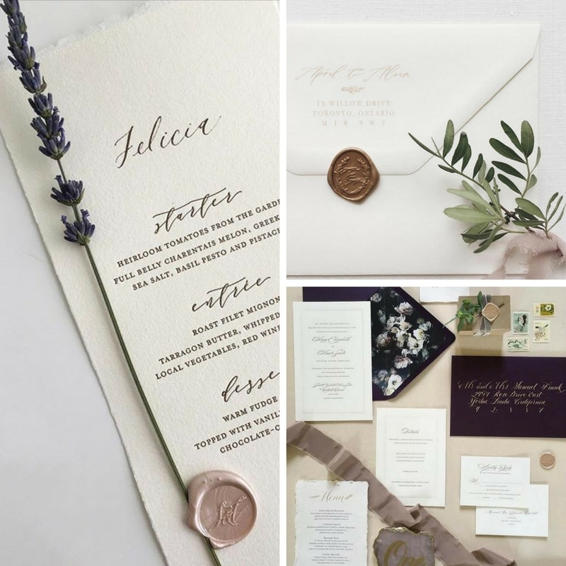 Top 5 Wax Seal Trends For Your Wedding By M Flemings