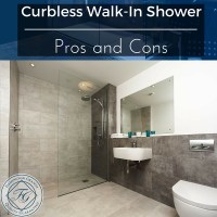 Curbless Walk-In Shower - Pros and Cons - Flemington Granite