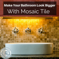 Make Your Bathroom Look Bigger With Mosaic Tile ...
