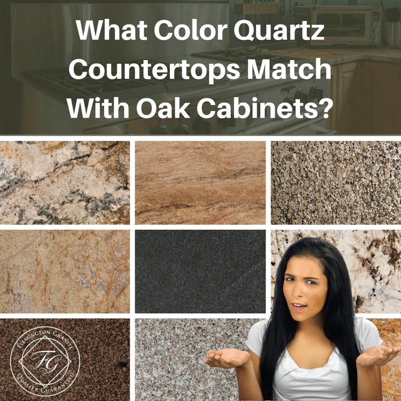 What Color Quartz Countertops Match With Oak Cabinets