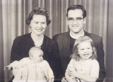1960, with June, Heather (right) and Pam (baby)