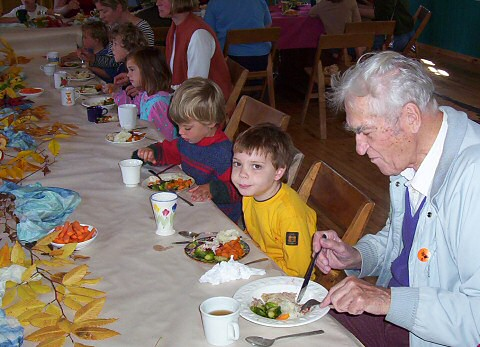 2004 - Accompanying his grandson to Thanksgiving Dinner at South Shore Waldorf School