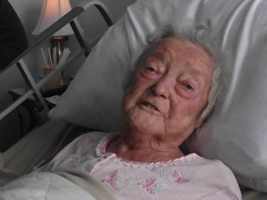Mille shortly before she died in 2011
