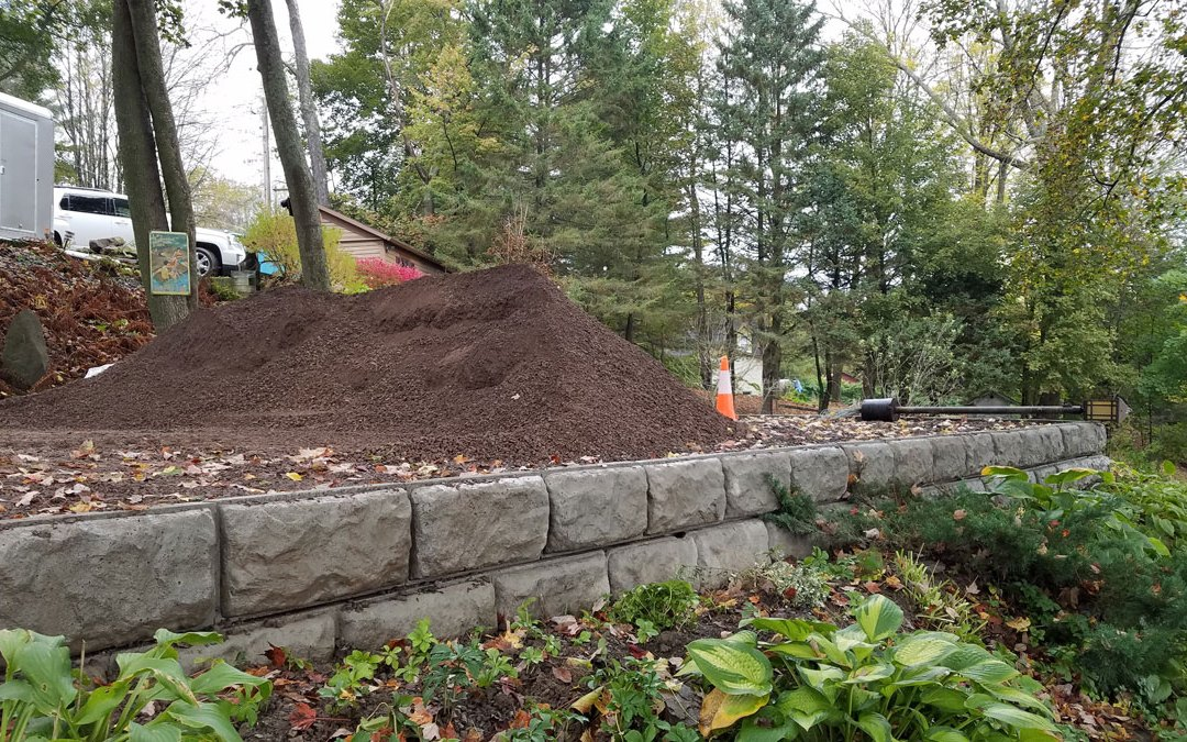 Emerson Drive and Retaining Wall