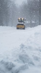 excavator in snow - excavator-in-snow