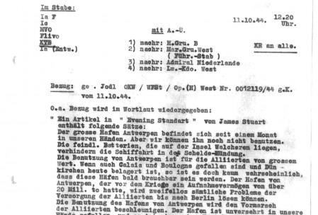 Een Duits schrijven oktober 1944