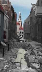 Sarazijnstraat 1953, achtergrond 2014.
