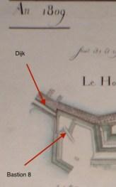 dijk en bastion 8 1809