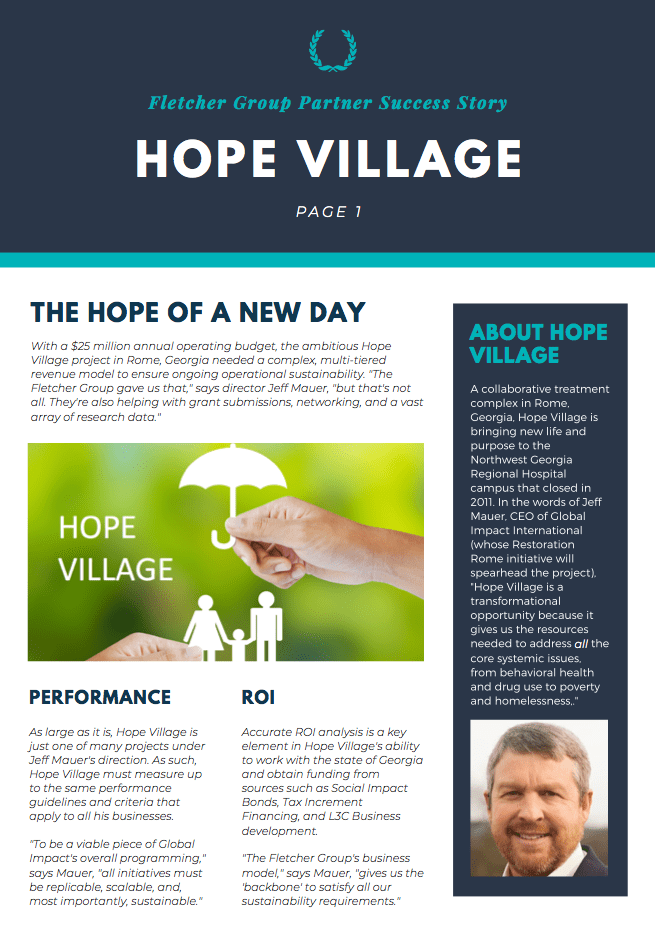 HOPE VILLAGE SUCCESS STORY SCREENSHOT