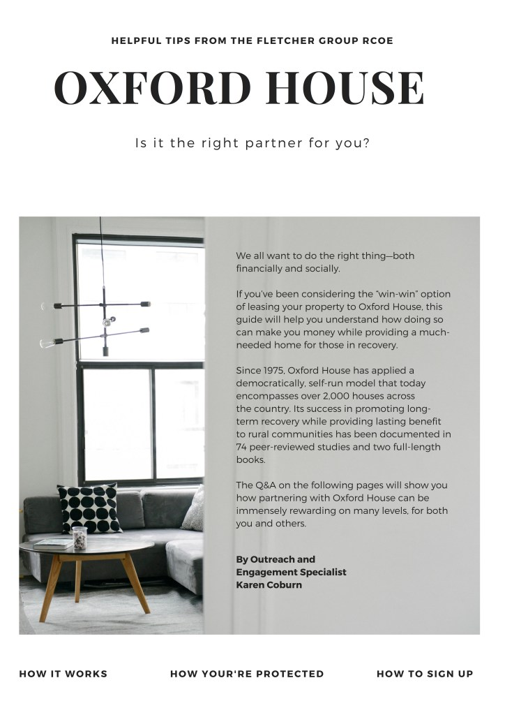IS OXFORD HOUSE THE RIGHT PARTNER FOR YOU