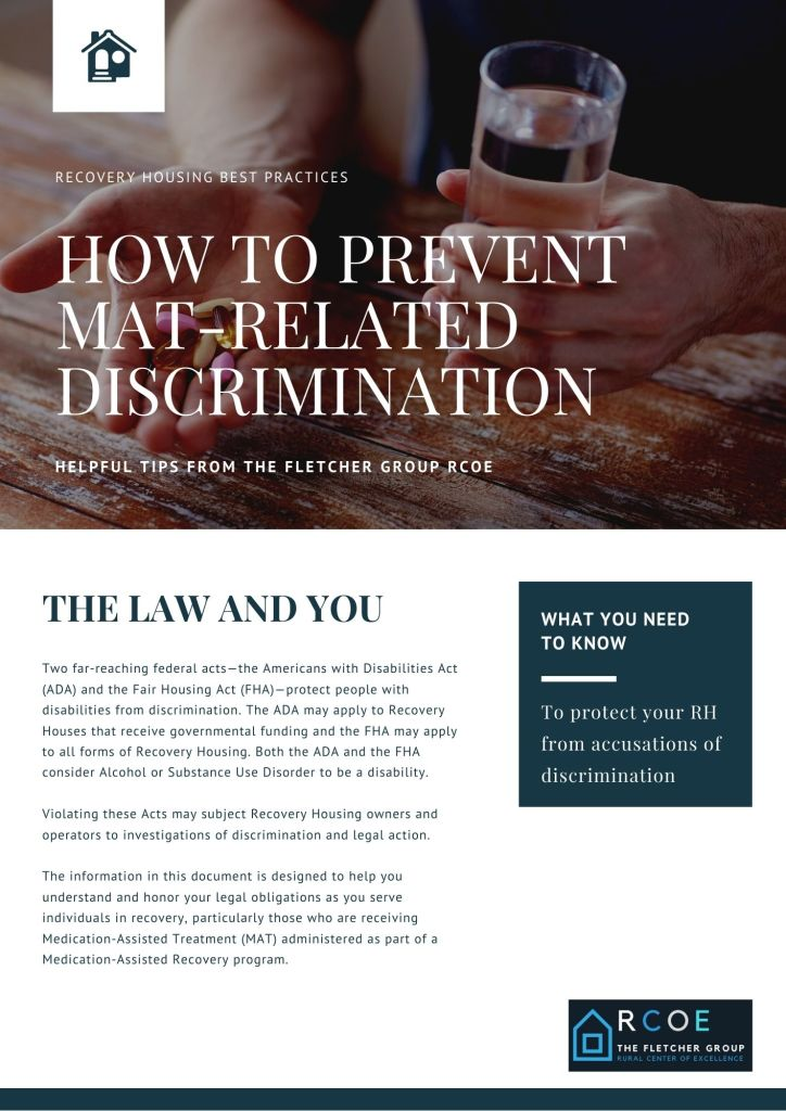 HOW TO PREVENT MAT RELATED DISCRIMINATION 1ST PAGE