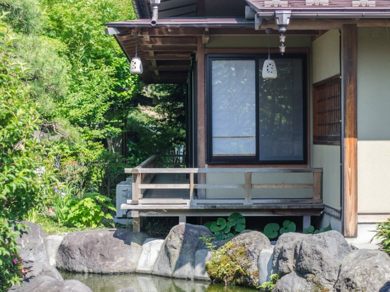japanese style ryokan building with architecture