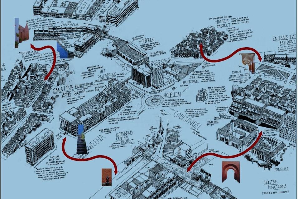 """""""ROTTERDAM NAKED CITY – INTENTIONS FOR THE UNINTENTIONAL"""" een collectief ontwerpend onderzoek naar mogelijkheden voor de verfijning in rotterdam door Pierre Oskam en Nadia Pepels"""