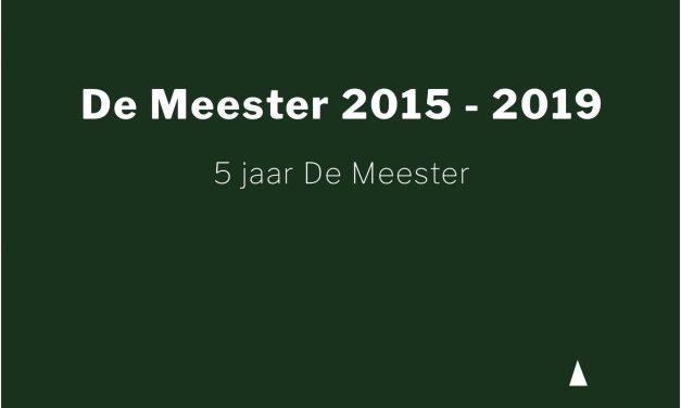 Booklet vijf jaar De Meester