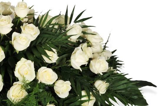 raquette de roses blanches l ange gardien
