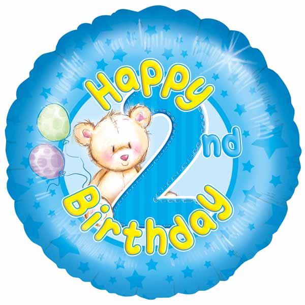 2nd birthday boy balloon
