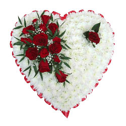 funeral heart tributes wreaths