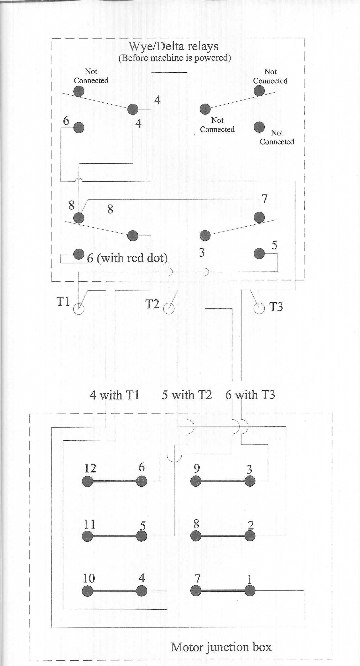 wye delta wiring diagram toyota 3sgte fadal motor problem