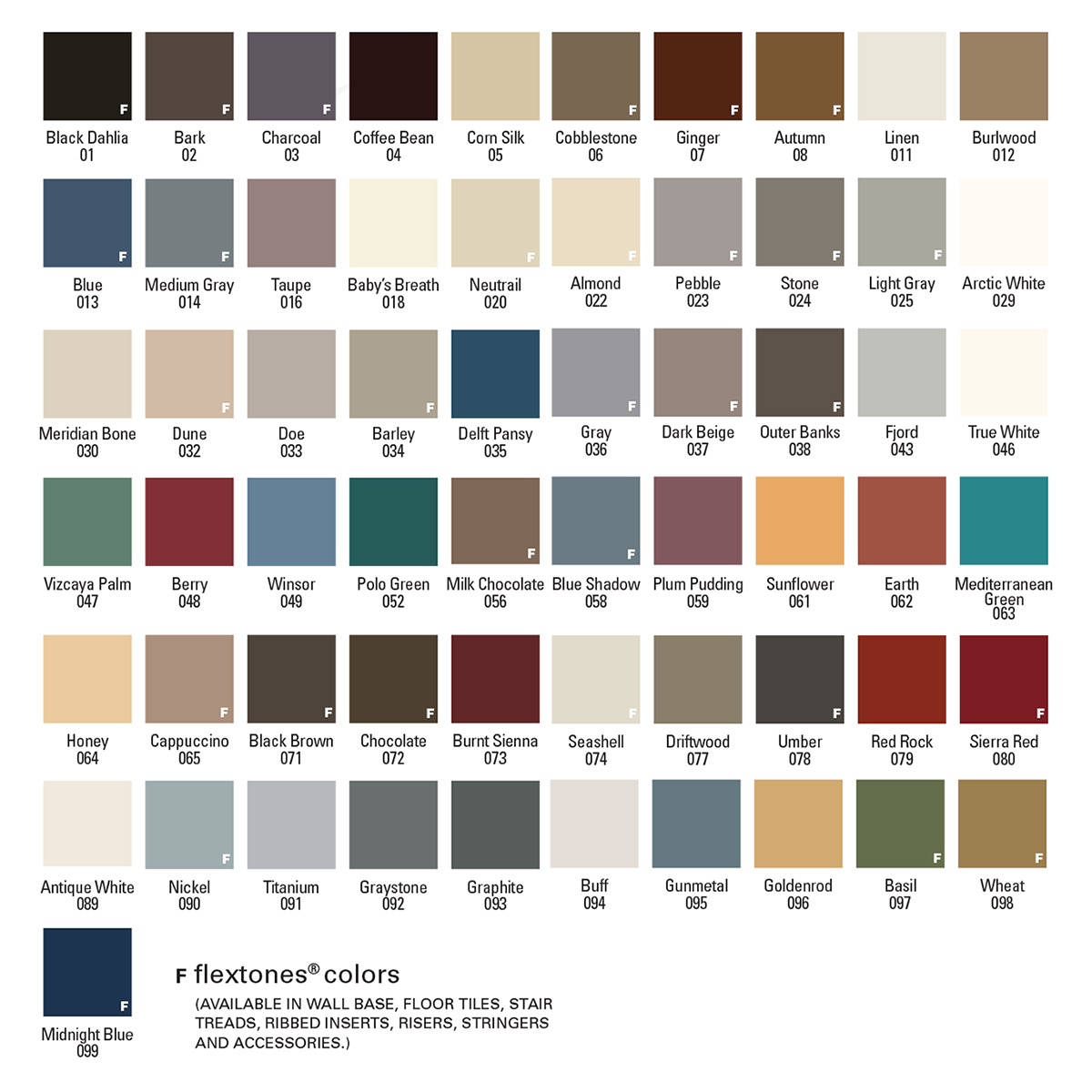 Armstrong Vinyl Base Colors