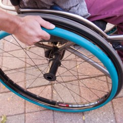 Wheelchair Grips Outdoor Rocker Chair Comfort Fit Blue Flexel Mobility