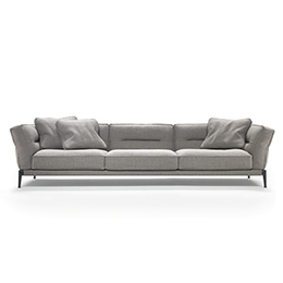 long sofas leather chaise sofa sectional - | flexform