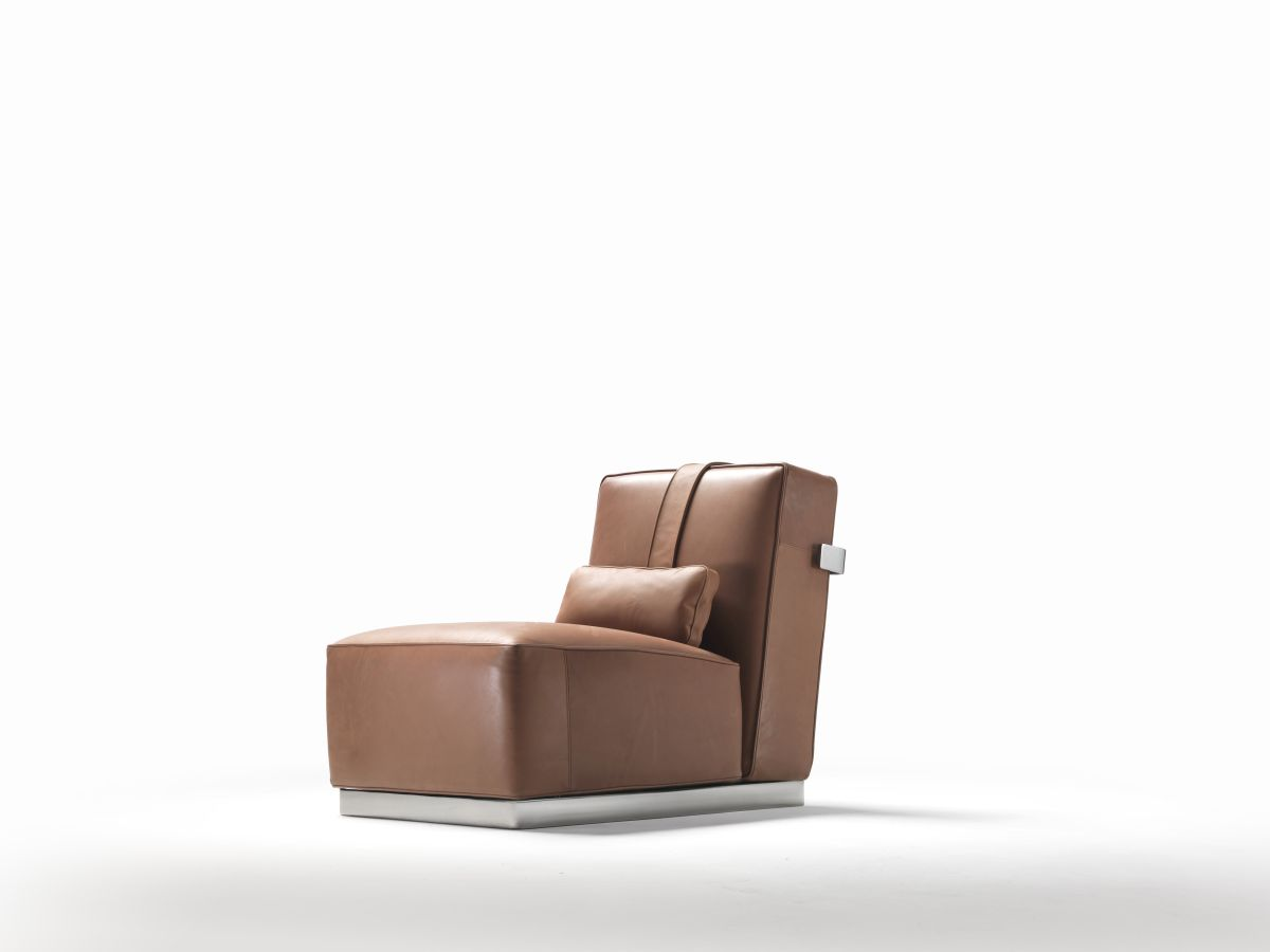 leather armchair covers pull out twin bed chair a.b.c.d. – flexform nyc