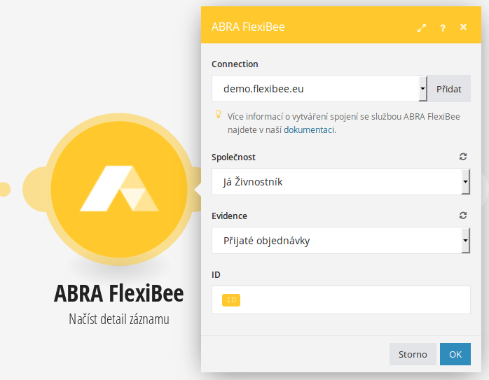 Načíst detail záznamu z FlexiBee
