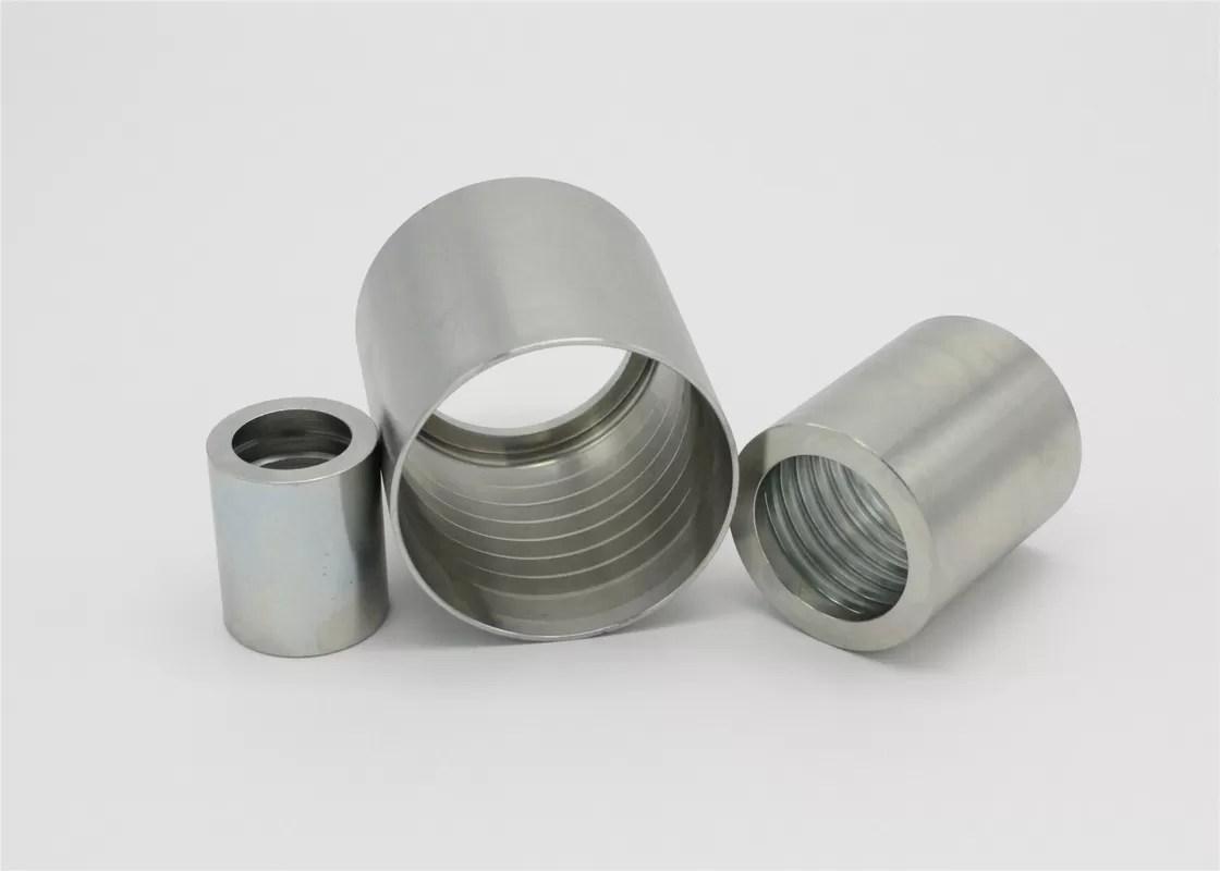 Steel Hydraulic Hose End Fittings SAE 100 R2 AT / EN 853