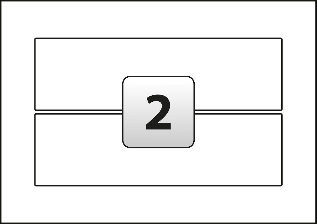 2 Inkjet Printer Labels per A3 sheet 329 mm x 96 mm