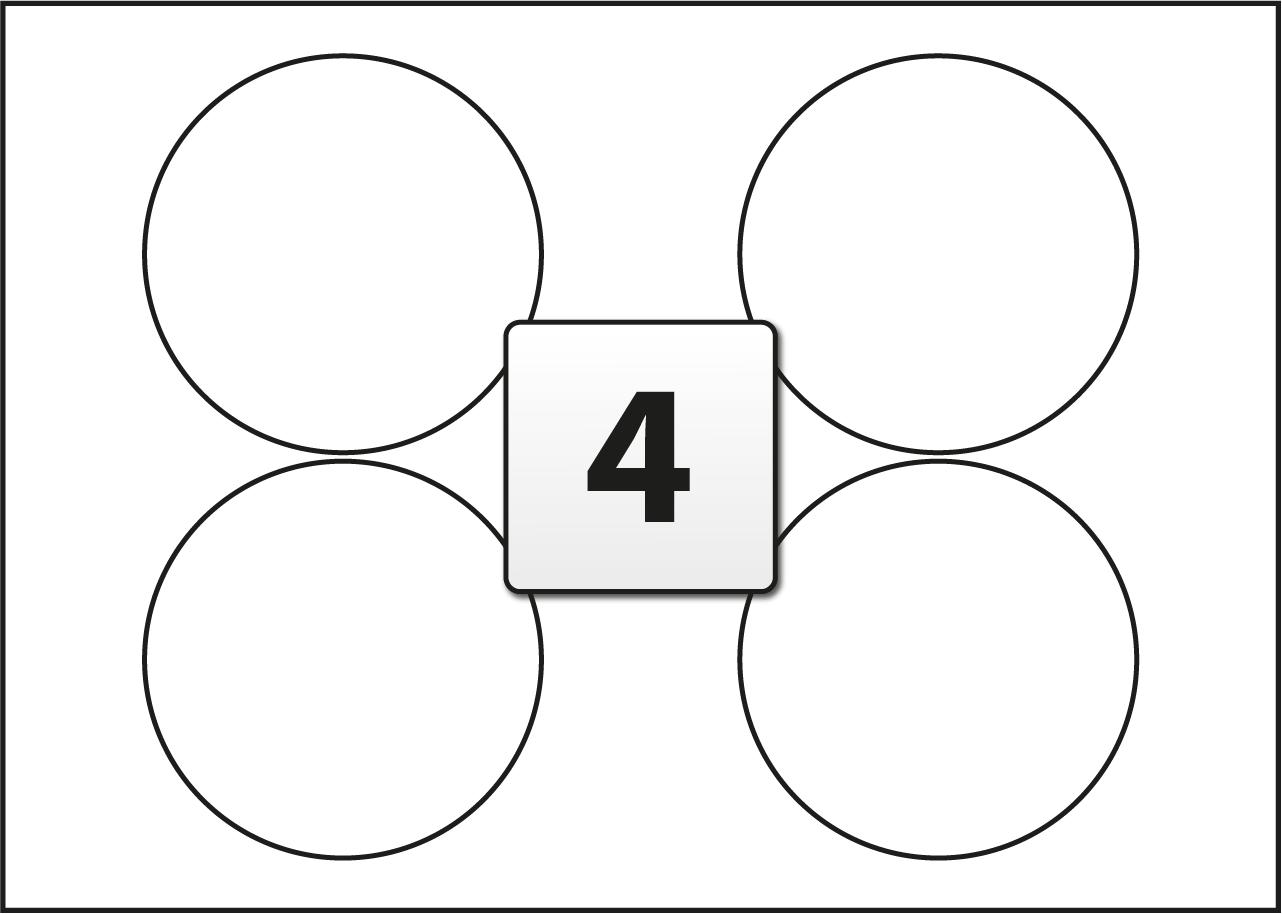 4 Round Labels Per Sra3 Sheet 140 Mm Diameter