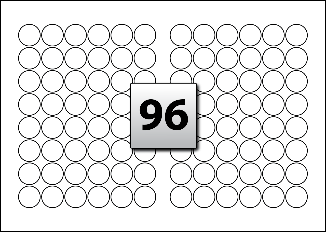 96 Round Labels Per Sra3 Sheet 30 Mm Diameter