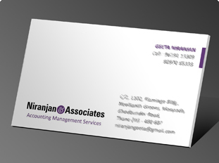 Business Card Design And Printing For Chartered Accounting