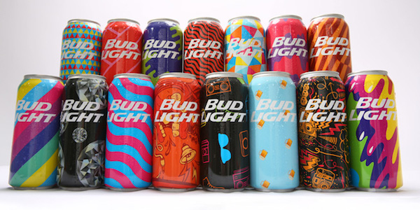 FLEXO iQ homepage HP Bud Light cans