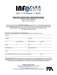 INFOFLEX 2019 Booth Staff Only Registration
