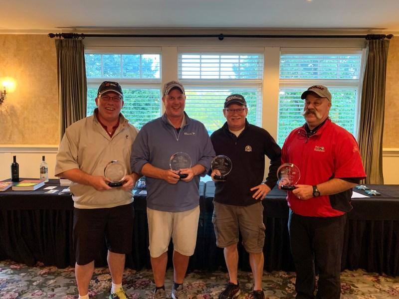2019 Gary Hilliard Memorial Golf Tournament Second Place Foursome