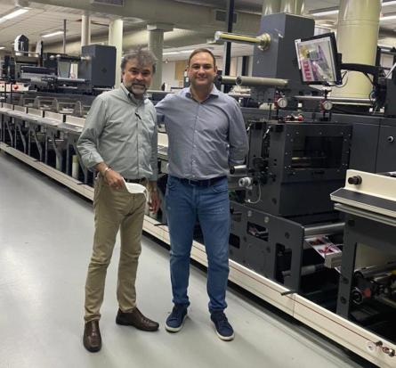 Nilpeter Grif press installation