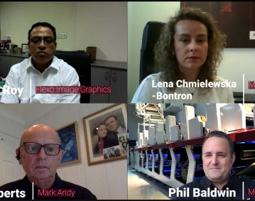 """Hosts of the Mark Andy and Flexo Image Graphics' webinar entitled """"Digital Solutions from Mark Andy Offer"""""""