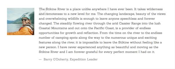 Stikine River Expedition 2016 Trip Diary