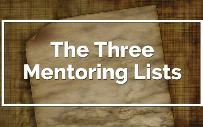 The 3 Mentoring Lists