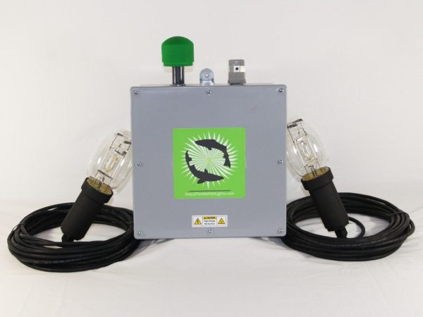 250 watt  double underwater dock and fish light system