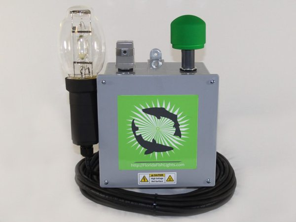 Single lamp 250 watt underwater fish lamp system