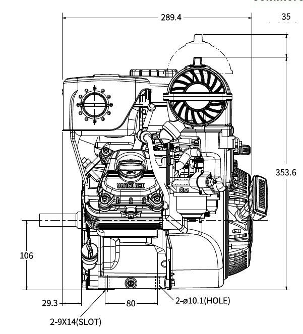 VANGUARD 12V332-TBH 6.5 HP REPLACEMENT ENGINE FOR TROY
