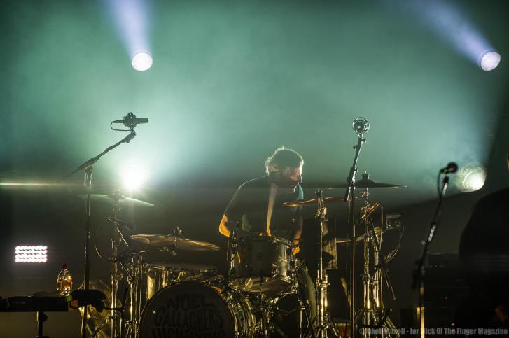 Chris Sharrock concentrated on his fantastic drum playing