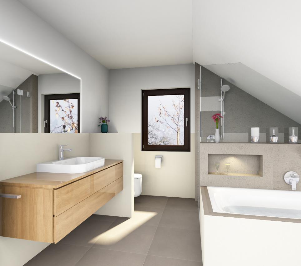 Bad gestaltung im dachbereich badsanierung f r for Gestaltung bad