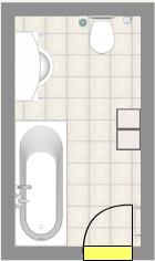 Badezimmer mit Dachschrge  Fliesen Fieber