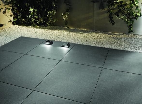 Terrassenplatten aus 20 Millimeter Feinsteinzeug  Die