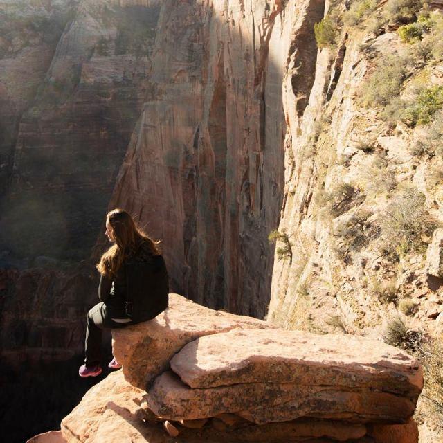 Enjoying the View in Zion