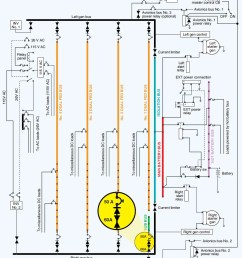 diagram of the power distribution system for a twin engine [ 916 x 1066 Pixel ]