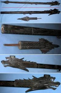 indonesian dragon blowgun made of bone